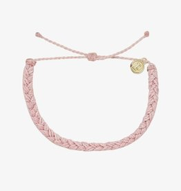PuraVida Pura Vida, Solid Braided Bracelet, Baby Pink