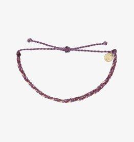 PuraVida PuraVida, Mini Braided Solid Bracelet, Purple Peak