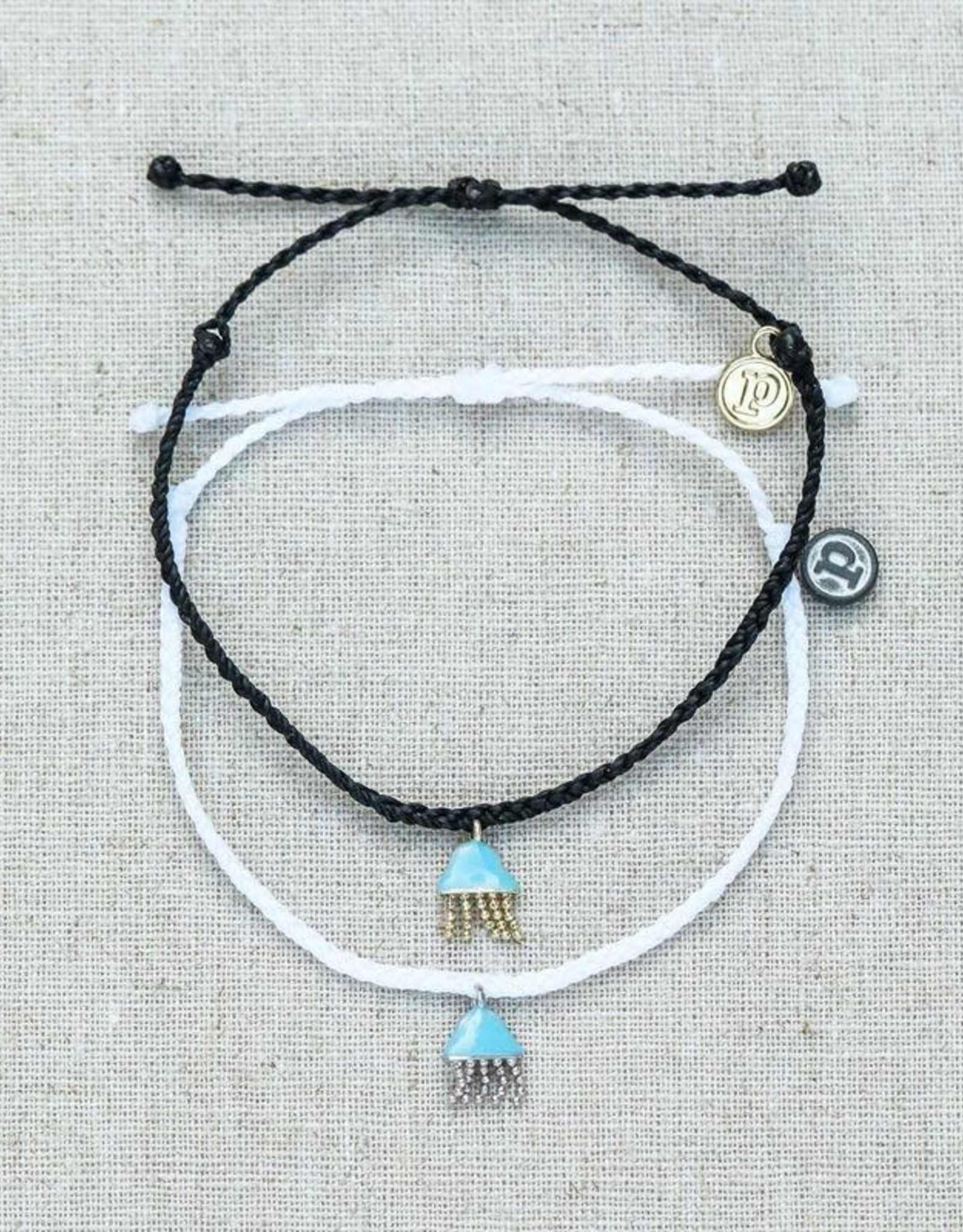 PuraVida Pura Vida, Jellyfish Silver Bracelet, White