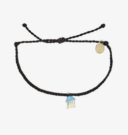 PuraVida Pura Vida, Jellyfish Gold Bracelet, Black