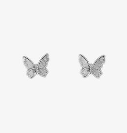 PuraVida Butterfly In Flight Earrings, Silver