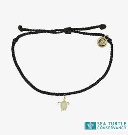 PuraVida PuraVida, Sea Turtle Bracelet Gold, Black