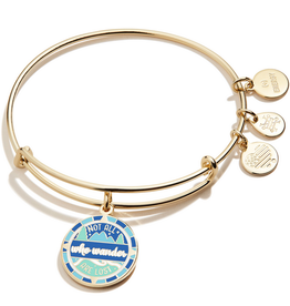 Alex and Ani Not All Who Wonder Are Lost, Shiny Gold