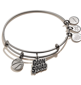 Alex and Ani Space Jam, Goon Squad Duo Charm, Midnight Silver