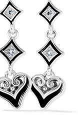 Brighton Alcazar Mystique Post Drop Earrings - Silver-Black