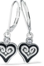 Brighton Alcazar Mystique Heart Leverback Earrings