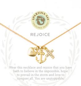 "Sea La Vie Necklace 18"" Rejoice/Faith Hope Love"