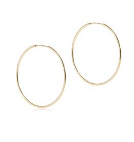 "ENEWTON ENEWTON Earring, Endless Gold 1.75"" Hoop"