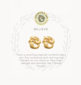 Spartina 449 Sea La Vie Stud Earrings Believe/Mermaid