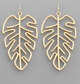 Golden Stella Gold Leaf Outline Earrings