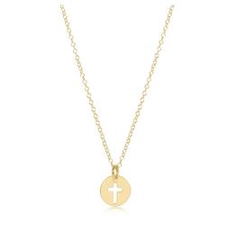 "ENEWTON ENEWTON, 16"" Necklace Gold - Blessed Small Gold Charm"