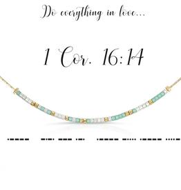 Dot & Dash Dot & Dash, 1 Cor 16:14 Necklace