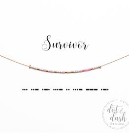 Dot & Dash Dot & Dash, Survivor Necklace