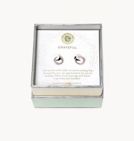 Spartina 449 SLV Hoop Earrings Grateful/Ring SIL