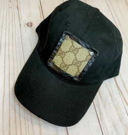 Patches of Upcycling Gucci Hat, Black
