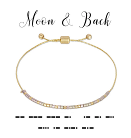Dot & Dash Dot & Dash, Moon & Back Bracelet
