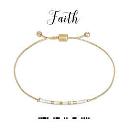 Dot & Dash Dot & Dash, Faith Bracelet
