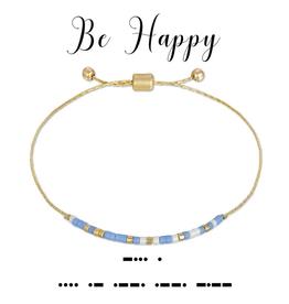 Dot & Dash Dot & Dash, Be Happy Bracelet