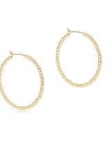 "ENEWTON Beaded Gold 1.25"" Hoop - 2mm Beaded Gold"