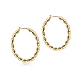 "ENEWTON ENEWTON, Beaded Gold 1.25"" Hoop- Harmony Small Gold"