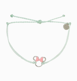 PuraVida Pura Vida, Disney Minnie Mouse Silver Charm Bracelet, Winterfresh
