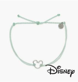 PuraVida Pura Vida, Disney Mickey Mouse Silver Charm Bracelet, Winterfresh