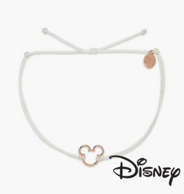PuraVida Pura Vida, Disney Mickey Mouse Rose Gold Charm Bracelet, White