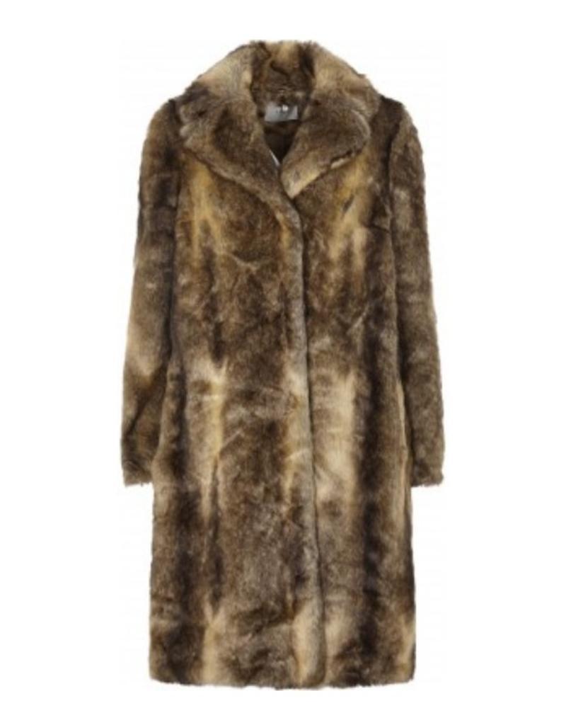 just female Just Female Enzo Faux Fur Coat