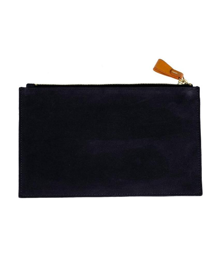 Boulevard Carrie Suede Clutch