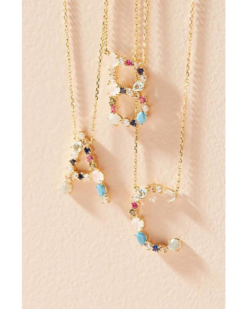Tai Rittichai Tai - Multi Color Stone Monogram Necklace
