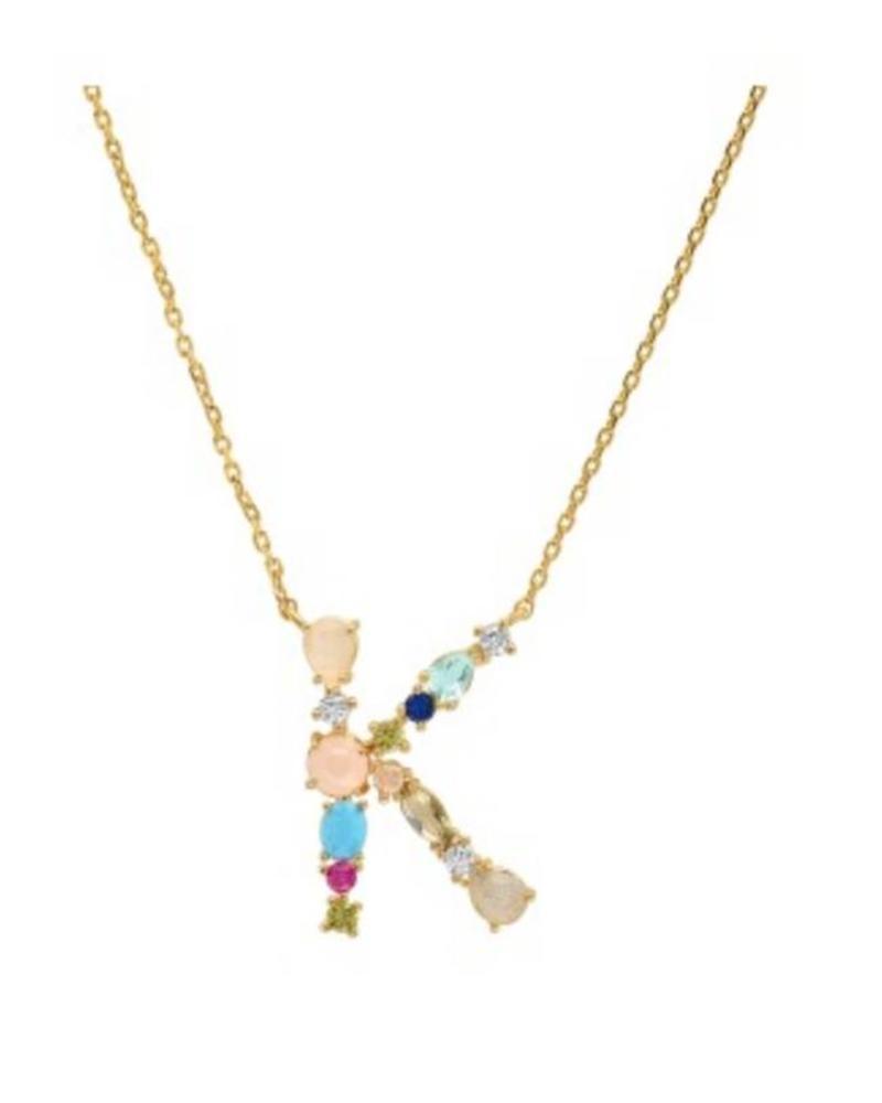 Tai Rittichai Tai - Multi Color Stone Monogram Necklace