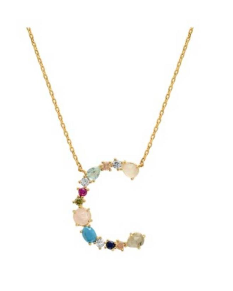Tai Rittichai Tai - Stone Encrusted Monogram Necklace