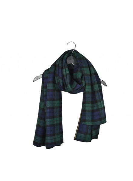 Carolina Amato Big Plaid Scarf