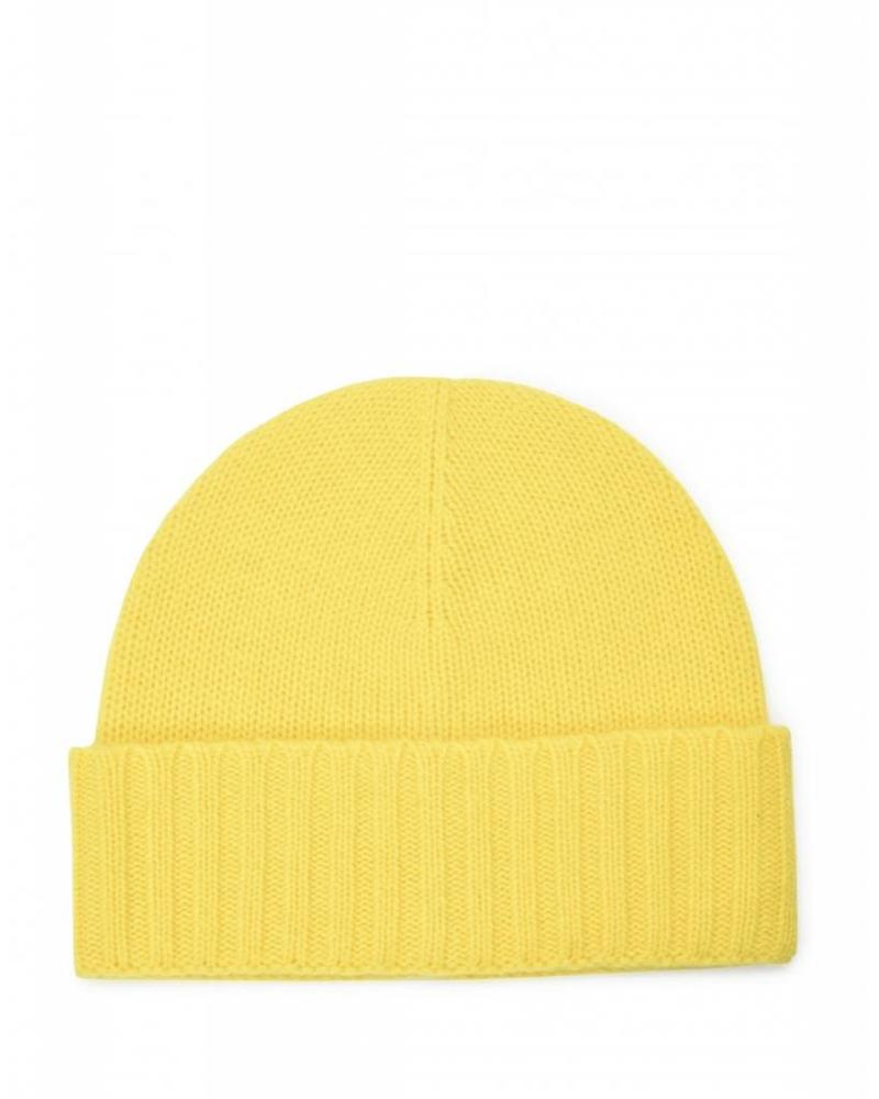 Carolina Amato Cashmere Fold Cuff Hat