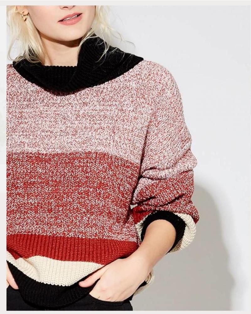 Callahan Nathalee Mock Sweater