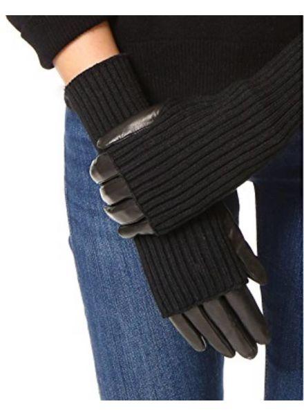 Carolina Amato Touch Tech Knit Leather