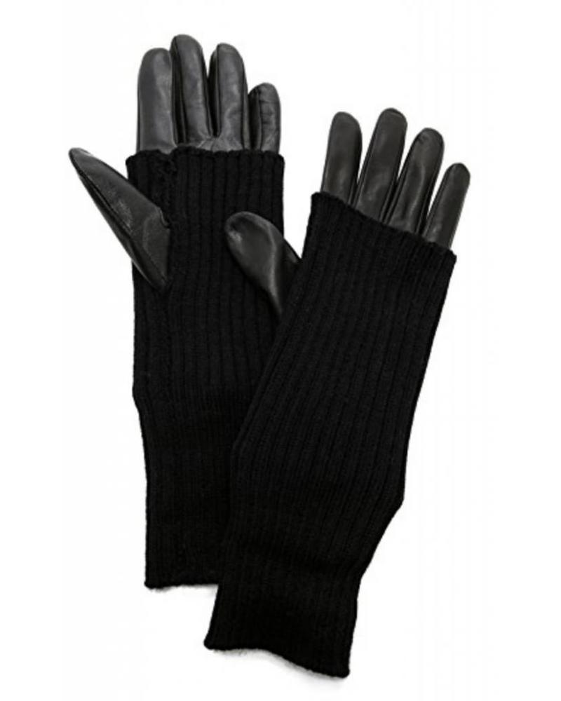 Carolina Amato Touch Tech Knit Leather