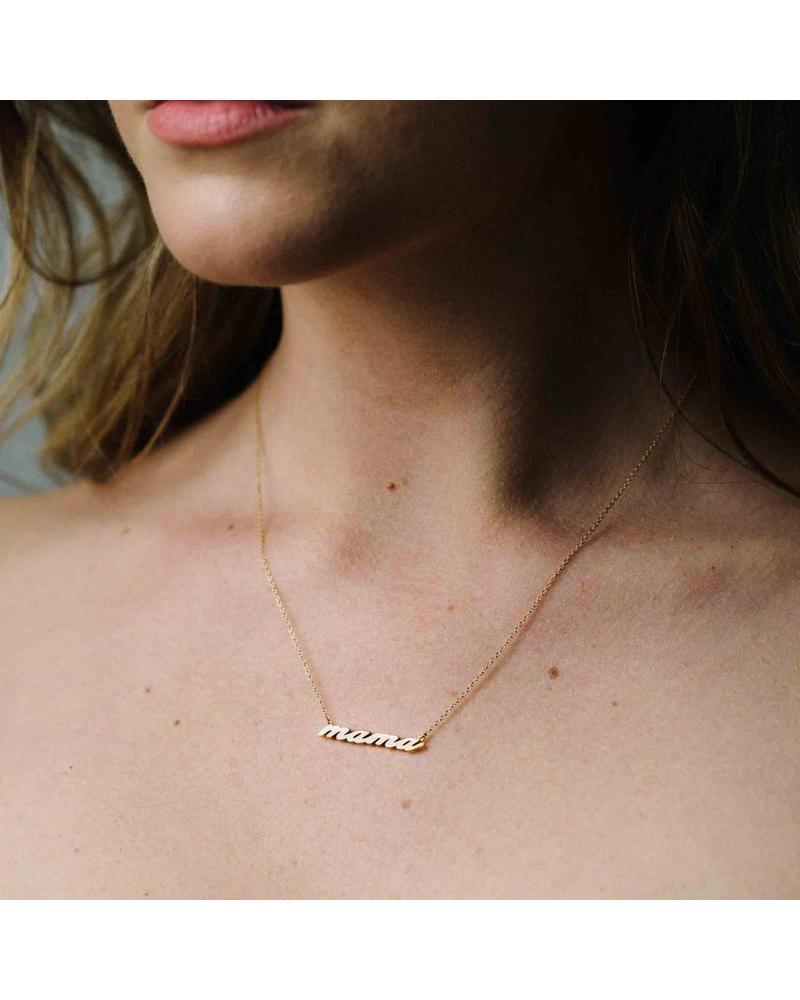 Thatch Etoile Script Necklace