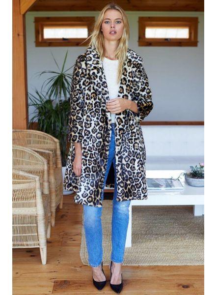 Emerson Fry Vegan Leopard Coat