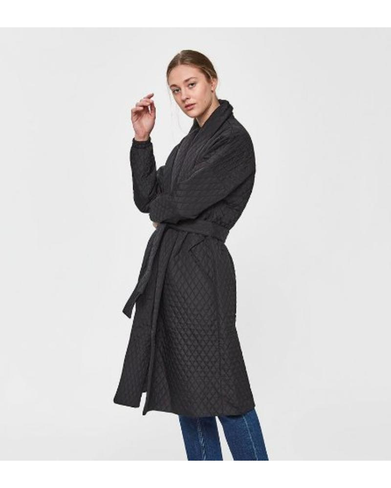 Just Female Quilt Maxi Coat