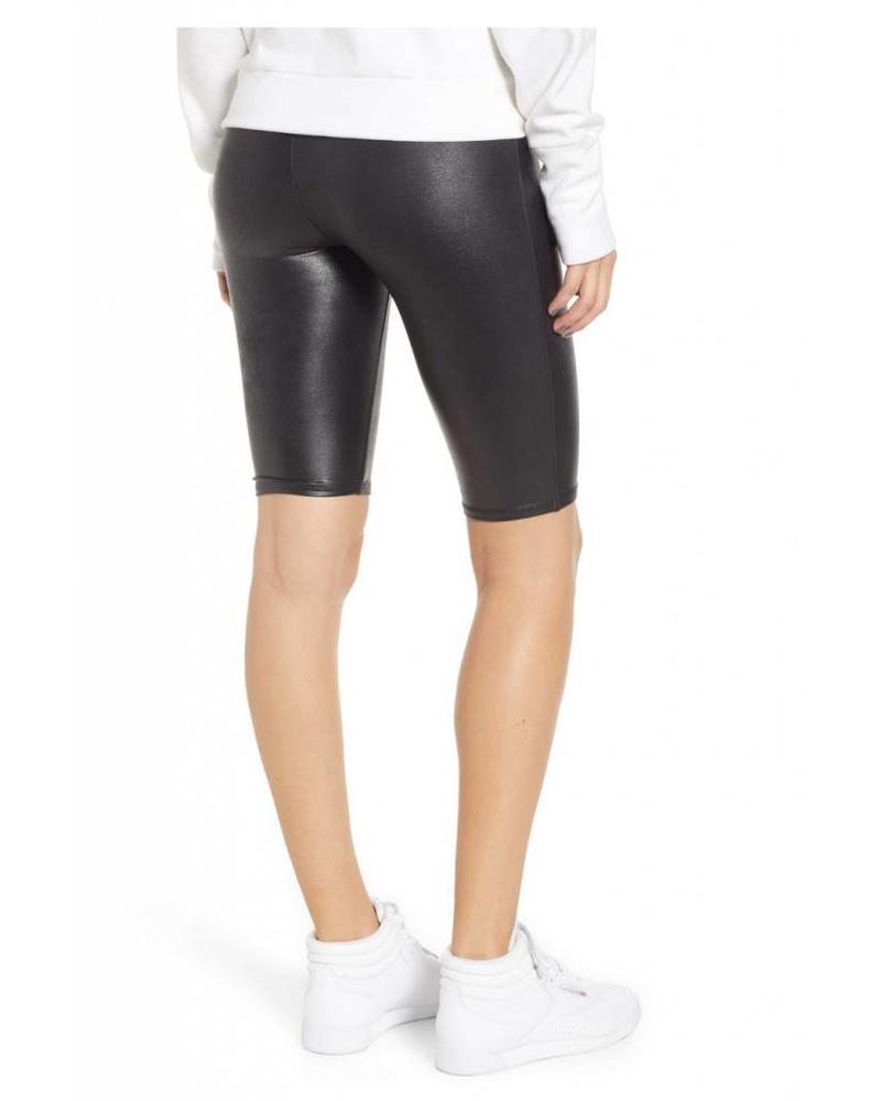 Spanx Faux Leather Bike Short