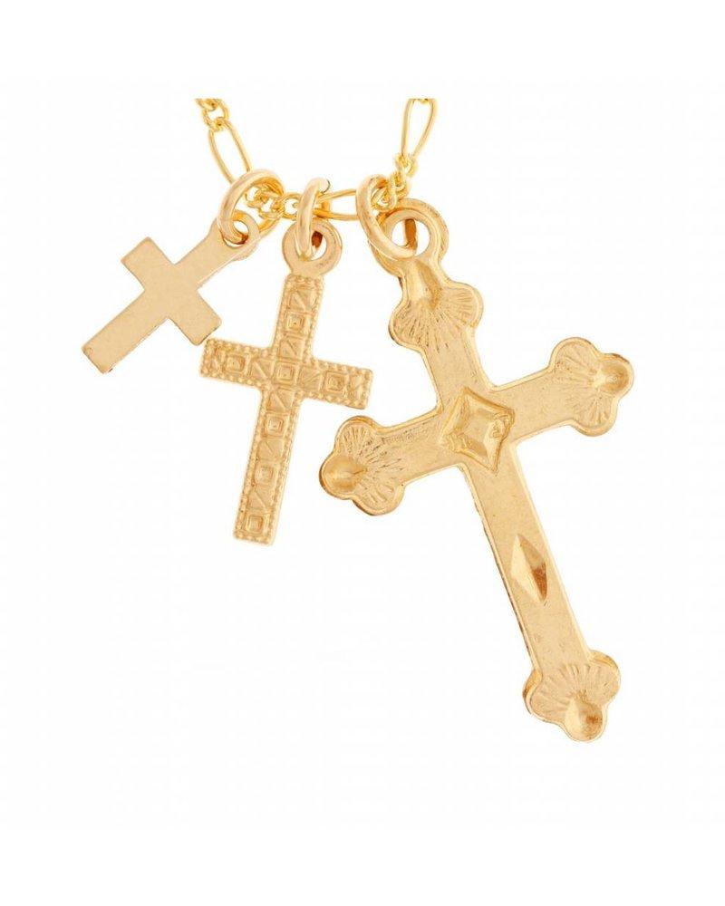 Girls Crew  Three Cross Necklace
