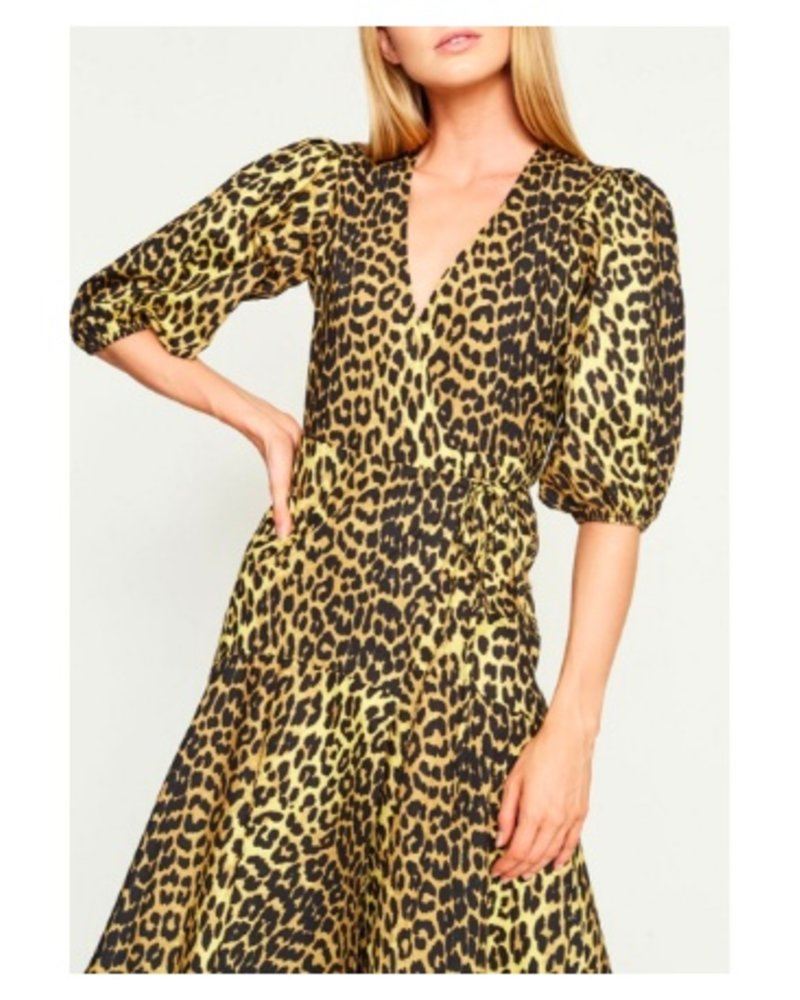 0fa312d9 Ganni Printed Wrap Dress - Ladybird