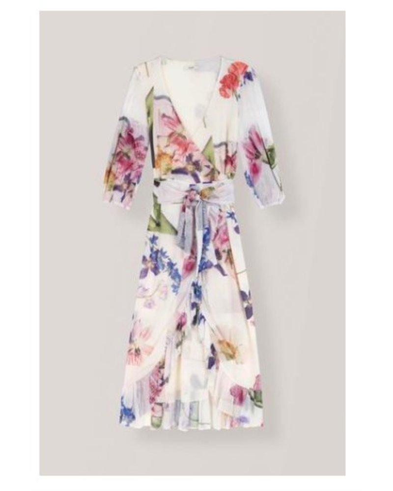 e00dbff7ff Ganni Printed Mesh Wrap Dress - Ladybird