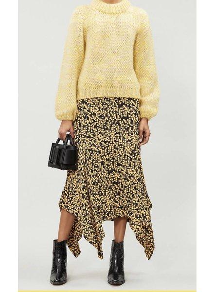 Ganni Printed Crepe Skirt