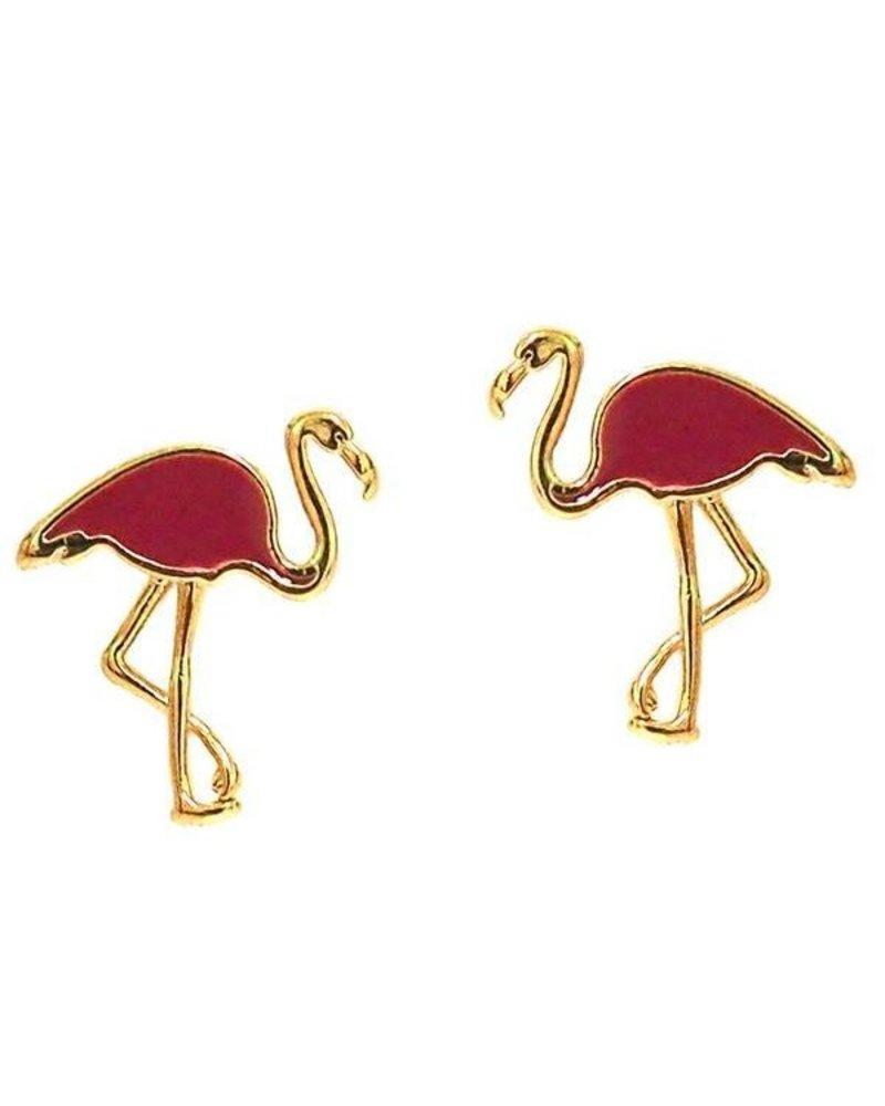 Tai Enamel Flamingo Post