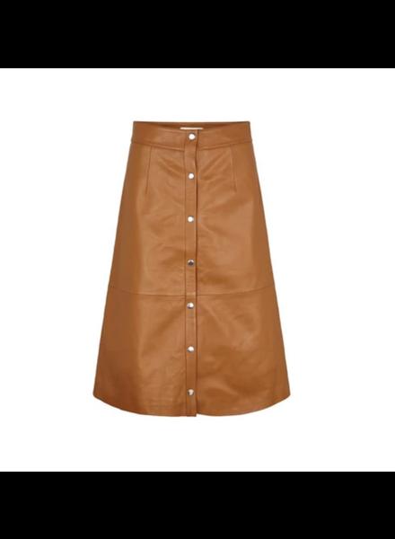 Just Female Alfa Leather Skirt