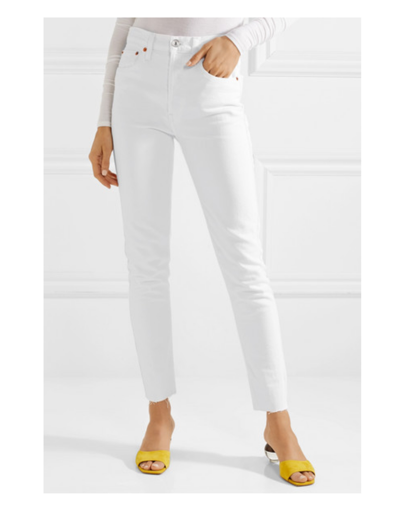 Re/Done Re/Done High Rise Ankle Crop