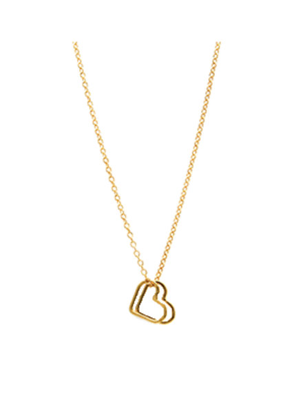 Jurate Brown 2Heart Necklace