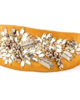 NAMJOSH Crystal Leaf Headband